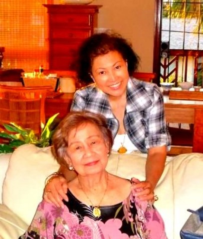 Tessie and her mother, Filipinas Ruiz Medina
